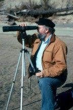 spotting scope - bird watcher